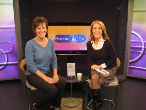 On the Parents TV set with host Juli Auclair.