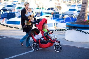 mom-with-kids-stroller