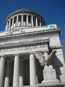 When we drove into Manhattan yesterday to take the kids to a museum, we passed the area of Grants Tomb. She asked,