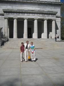 We had to walk a ways from the car to Grant's Tomb, so I thought my mother, who has Parkinson's disease, might need help climbing the stairs. I put out my hand for her, but she was already skipping up the steps like a school girl on a class trip.