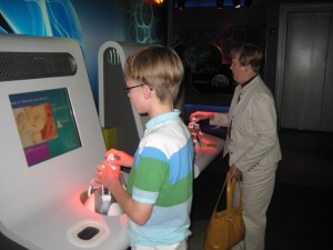 My mother played just about every game that my kids played at the Sony Wonder Technology lab yesterday afternoon.