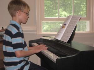 Nick at piano