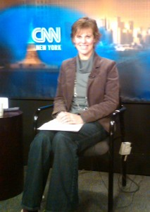 Jen Singer on set at CNN